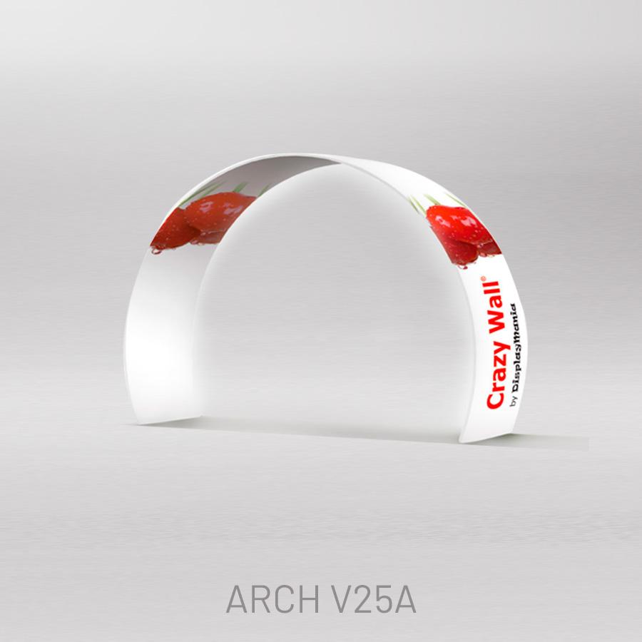 Arco plegable semicircular impreso