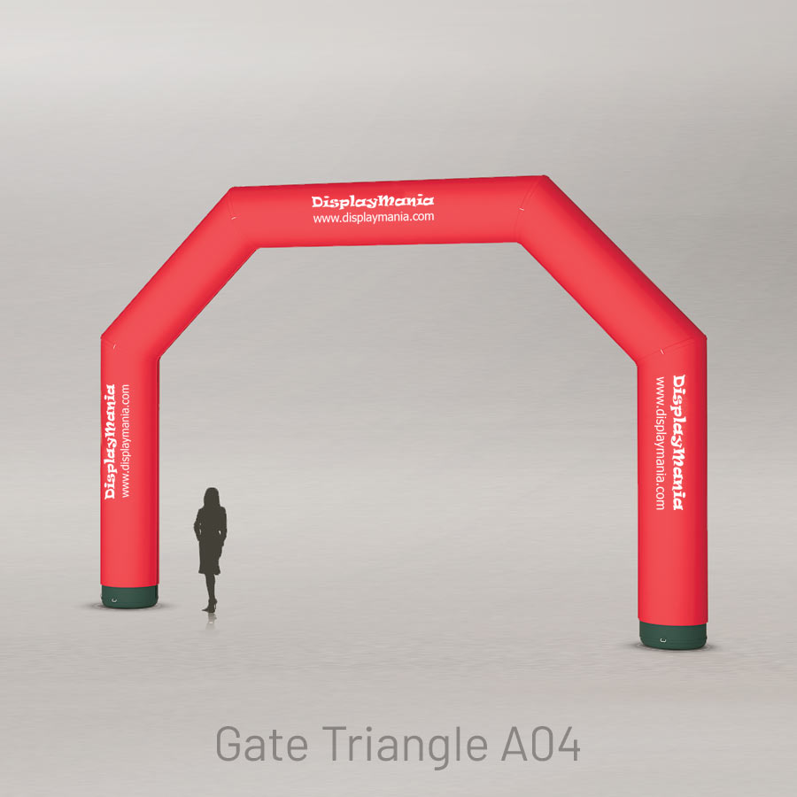 Puerta inflable triangular