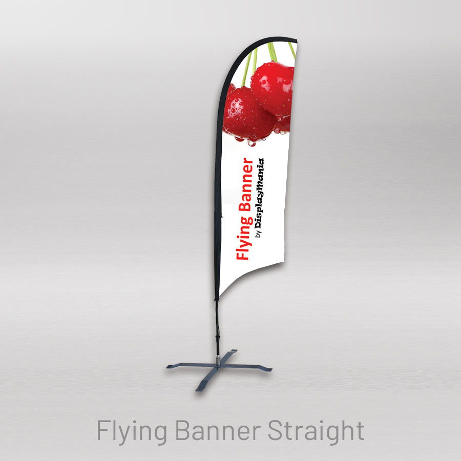 Straight teardrop-shaped lightweight flying banner
