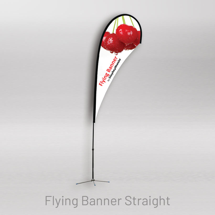 Straight lightweight flying banner