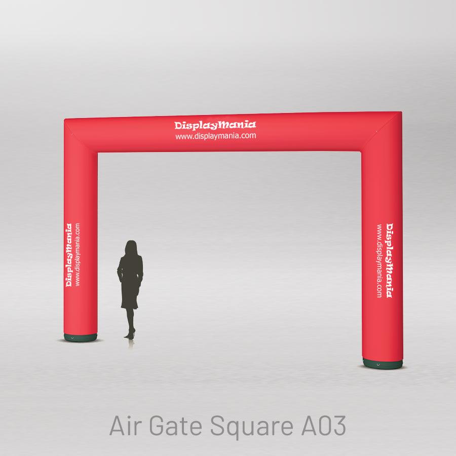 Porta inflable quadrada