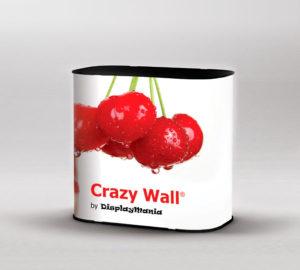 Mostrador Case es el mostrador portátil de tela de Crazy Wall que también es maleta.